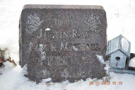 PERKINS, JUSTIN RAY - Branch County, Michigan | JUSTIN RAY PERKINS - Michigan Gravestone Photos