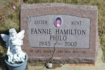 PHILO, FANNIE - Branch County, Michigan | FANNIE PHILO - Michigan Gravestone Photos