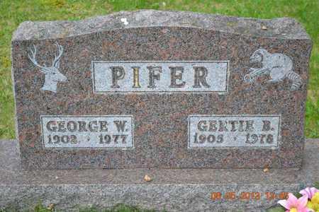 PIFER, GERTIE B. - Branch County, Michigan   GERTIE B. PIFER - Michigan Gravestone Photos