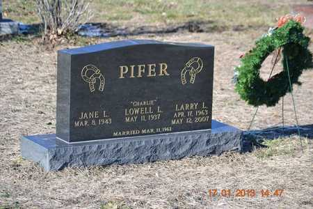 PIFER, JANE L. - Branch County, Michigan | JANE L. PIFER - Michigan Gravestone Photos