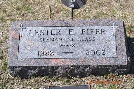 PIFER, LESTER E. - Branch County, Michigan   LESTER E. PIFER - Michigan Gravestone Photos