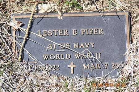 PIFER, LESTER E. - Branch County, Michigan | LESTER E. PIFER - Michigan Gravestone Photos