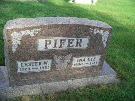 PIFER, INA - Branch County, Michigan   INA PIFER - Michigan Gravestone Photos