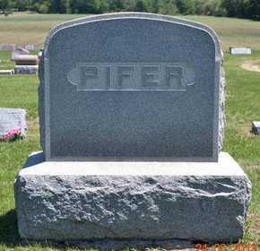 PIFER, LOT MARKER - Branch County, Michigan   LOT MARKER PIFER - Michigan Gravestone Photos