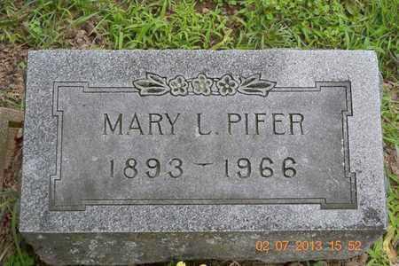 PIFER, MARY L. - Branch County, Michigan | MARY L. PIFER - Michigan Gravestone Photos