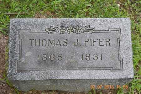 PIFER, THOMAS J. - Branch County, Michigan | THOMAS J. PIFER - Michigan Gravestone Photos