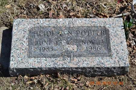 POTTER, HEIDE ANN - Branch County, Michigan | HEIDE ANN POTTER - Michigan Gravestone Photos