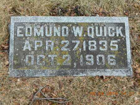 QUICK, EDMUND W. - Branch County, Michigan   EDMUND W. QUICK - Michigan Gravestone Photos