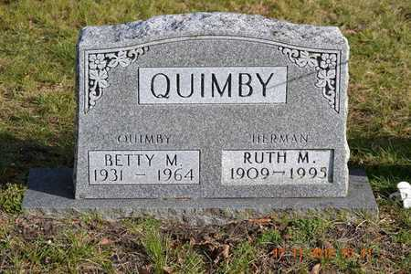 QUIMBY, BETTY M. - Branch County, Michigan   BETTY M. QUIMBY - Michigan Gravestone Photos
