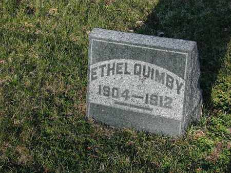 QUIMBY, ETHEL - Branch County, Michigan   ETHEL QUIMBY - Michigan Gravestone Photos
