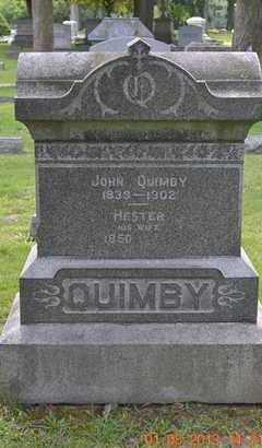 QUIMBY, HESTER - Branch County, Michigan | HESTER QUIMBY - Michigan Gravestone Photos