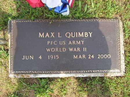 QUIMBY, MAX L. - Branch County, Michigan | MAX L. QUIMBY - Michigan Gravestone Photos
