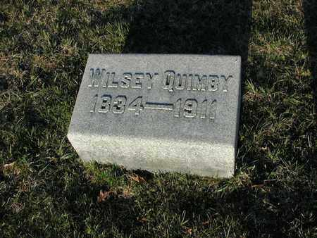 QUIMBY, WILSEY - Branch County, Michigan | WILSEY QUIMBY - Michigan Gravestone Photos