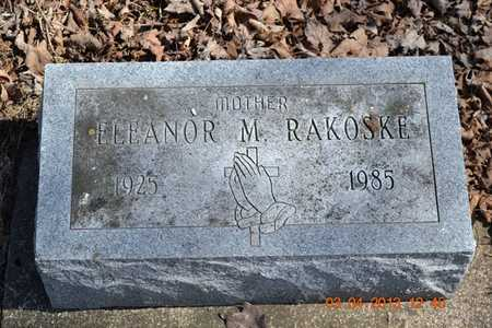 RAKOSKE, ELEANOR M. - Branch County, Michigan | ELEANOR M. RAKOSKE - Michigan Gravestone Photos