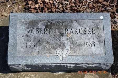 RAKOSKE, ROBERT L. - Branch County, Michigan | ROBERT L. RAKOSKE - Michigan Gravestone Photos