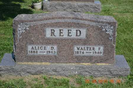 REED, ALICE D. - Branch County, Michigan | ALICE D. REED - Michigan Gravestone Photos