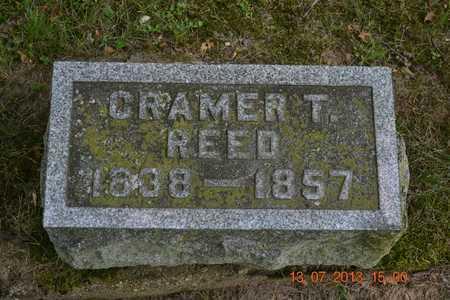 REED, CRAMER T. - Branch County, Michigan | CRAMER T. REED - Michigan Gravestone Photos