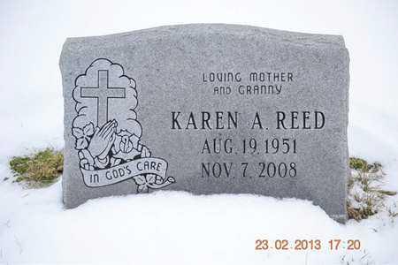 REED, KAREN A. - Branch County, Michigan | KAREN A. REED - Michigan Gravestone Photos