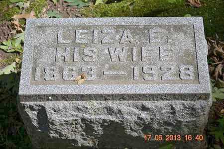 REED, LEIZA E. - Branch County, Michigan | LEIZA E. REED - Michigan Gravestone Photos