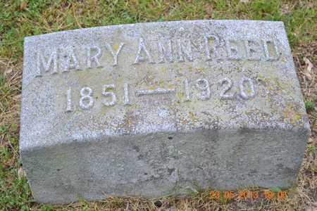 REED, MARY ANN - Branch County, Michigan | MARY ANN REED - Michigan Gravestone Photos