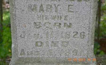 REED, MARY E. - Branch County, Michigan | MARY E. REED - Michigan Gravestone Photos
