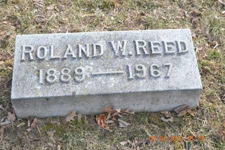 REED, ROLAND W. - Branch County, Michigan | ROLAND W. REED - Michigan Gravestone Photos