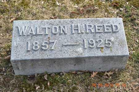 REED, WALTON H. - Branch County, Michigan   WALTON H. REED - Michigan Gravestone Photos