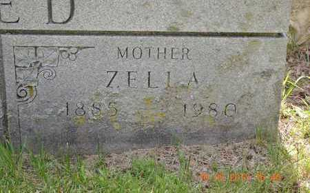 REED, ZELLA - Branch County, Michigan | ZELLA REED - Michigan Gravestone Photos