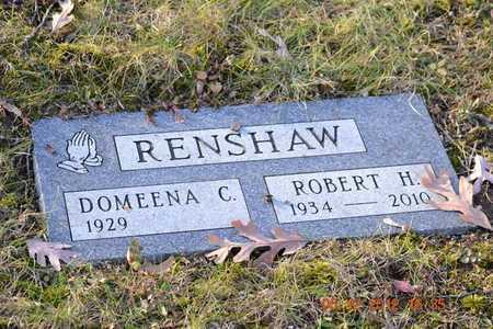 RENSHAW, DOMEENA C. - Branch County, Michigan | DOMEENA C. RENSHAW - Michigan Gravestone Photos