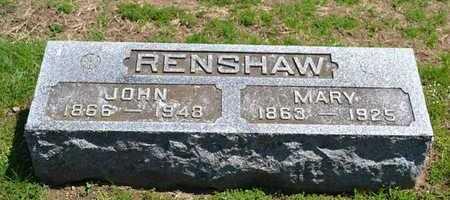 RENSHAW, MARY - Branch County, Michigan | MARY RENSHAW - Michigan Gravestone Photos