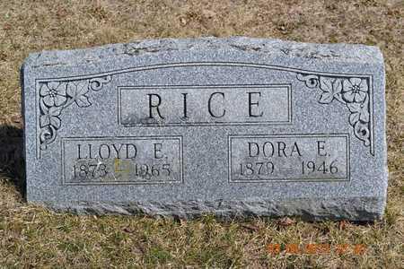 RICE, LLOYD E. - Branch County, Michigan | LLOYD E. RICE - Michigan Gravestone Photos