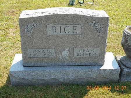 RICE, ERMA B. - Branch County, Michigan | ERMA B. RICE - Michigan Gravestone Photos