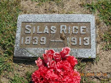 RICE, SILAS - Branch County, Michigan | SILAS RICE - Michigan Gravestone Photos