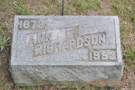 RICHARDSON, ANN E. - Branch County, Michigan | ANN E. RICHARDSON - Michigan Gravestone Photos