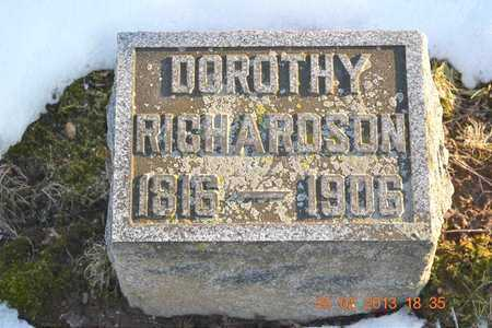 RICHARDSON, DOROTHY - Branch County, Michigan | DOROTHY RICHARDSON - Michigan Gravestone Photos