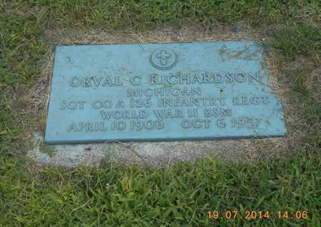 RICHARDSON, ORVAL C. - Branch County, Michigan | ORVAL C. RICHARDSON - Michigan Gravestone Photos