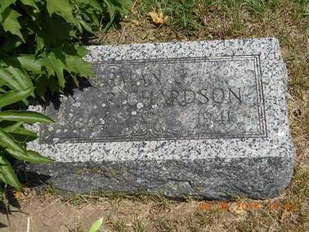 RICHARDSON, RICHARDSON - Branch County, Michigan | RICHARDSON RICHARDSON - Michigan Gravestone Photos