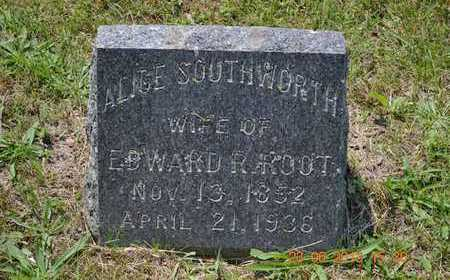 ROOT, ALICE - Branch County, Michigan | ALICE ROOT - Michigan Gravestone Photos
