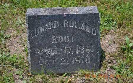ROOT, EDWARD ROLAND - Branch County, Michigan   EDWARD ROLAND ROOT - Michigan Gravestone Photos