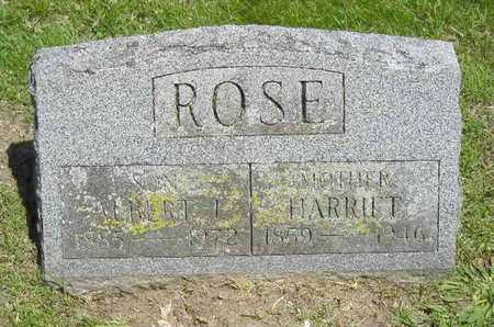 ROSE, HARRIET - Branch County, Michigan   HARRIET ROSE - Michigan Gravestone Photos