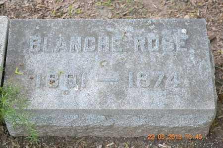 ROSE, BLANCHE - Branch County, Michigan | BLANCHE ROSE - Michigan Gravestone Photos