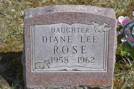 ROSE, DIANE LEE - Branch County, Michigan   DIANE LEE ROSE - Michigan Gravestone Photos