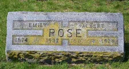 ROSE, ALBERT - Branch County, Michigan | ALBERT ROSE - Michigan Gravestone Photos