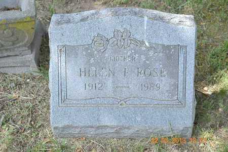 ROSE, HELEN F. - Branch County, Michigan   HELEN F. ROSE - Michigan Gravestone Photos