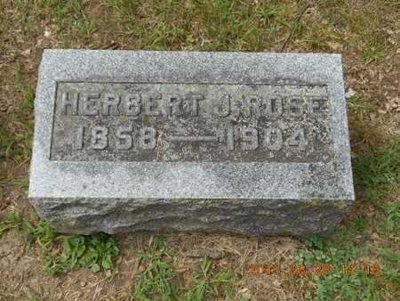 ROSE, HERBERT J. - Branch County, Michigan   HERBERT J. ROSE - Michigan Gravestone Photos