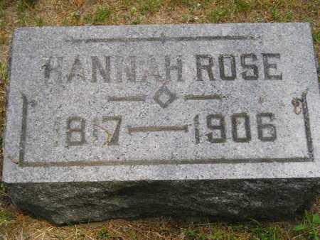 ROSE, HANNAH - Branch County, Michigan | HANNAH ROSE - Michigan Gravestone Photos