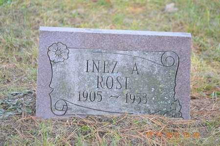 ROSE, INEZ A. - Branch County, Michigan | INEZ A. ROSE - Michigan Gravestone Photos
