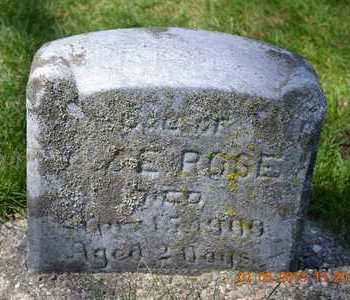 ROSE, INFANT DAUGHTER - Branch County, Michigan | INFANT DAUGHTER ROSE - Michigan Gravestone Photos