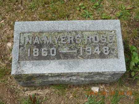 ROSE, INA - Branch County, Michigan | INA ROSE - Michigan Gravestone Photos