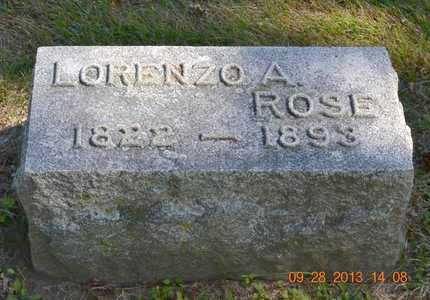ROSE, LORENZO A. - Branch County, Michigan | LORENZO A. ROSE - Michigan Gravestone Photos